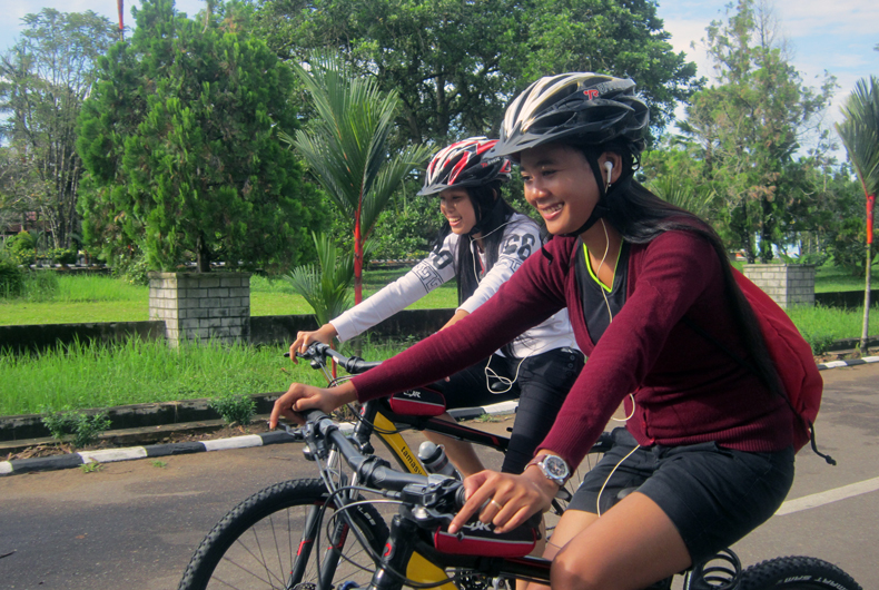 Cycling Ahmad Yani Street