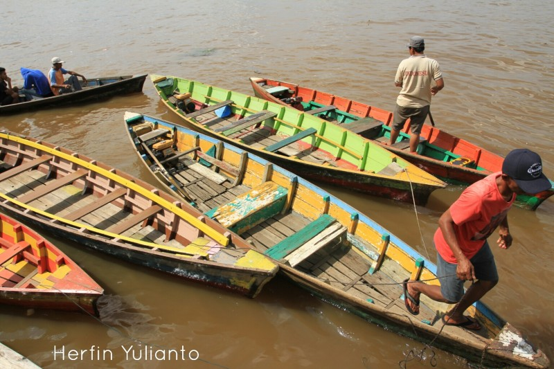 Sampan a Traditional Canoe of Pontianak