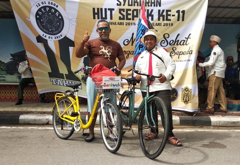 HUT ke-11 SEPOK Sepeda Ontel Kalimantan Barat PESAN HARAPAN PENGAYOMAN Pemkot PONTIANAK Disporapar.